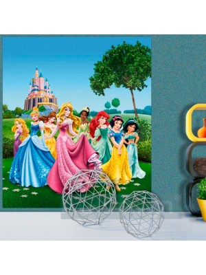 Papier peint XL intisse Château au Printemps Princesse Disney 180X202 CM