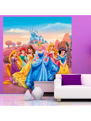 Papier peint XL intisse Château Princesse Disney 180X202 CM