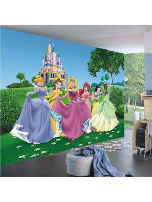Papier peint XXL intisse Château Princesse Disney 360X255 CM