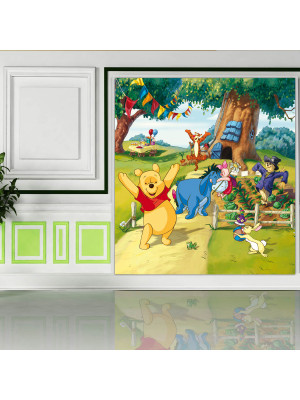 Papier peint XL Winnie l'Ourson anniversaire Disney 180X202 CM