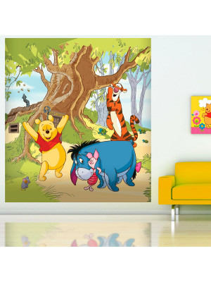 Papier peint XL Winnie l'Ourson en Famille Disney 180X202 CM