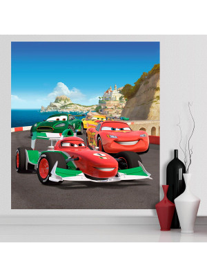 Papier peint XL intisse Flash McQueen & Francesco Bernoulli Cars Disney 180X202 CM