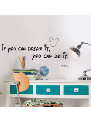 "Stickers citation Walt Disney ""You Can Do it"""