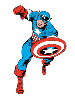 Stickers Géant Captain America Comics Marvel
