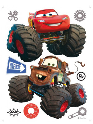 Stickers géant Cars Super Roues Flash et Martin Disney