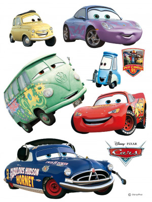 Stickers géant Doc Hudson & voiture Cars Disney