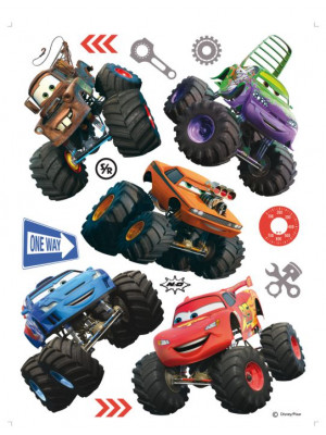 Stickers géant Cars Super Roues Disney