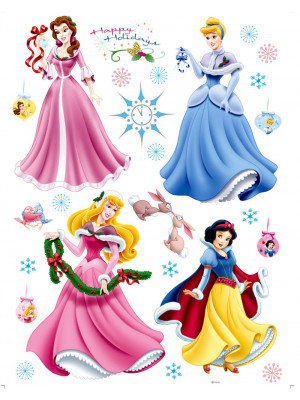 Stickers Noël Princesse Disney