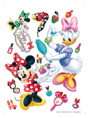 Stickers géant Minnie et Daisy Make Up Disney