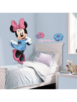 Stickers géant Minnie Mouse & Fleurs Disney