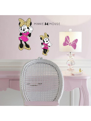 Stickers géant Minnie Mouse Glitter Disney