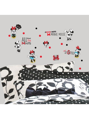 35 Stickers géant Minnie Mouse Rockin' my Dots Disney