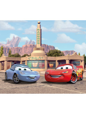 Voilage XL Cars Motifs Flash Mc Queen et Sally Carrera de Disney 180X160 cm