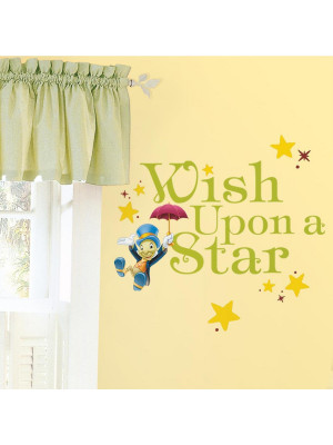 "Stickers phrase Pinocchio ""Wish Upon A Star"" Disney Jiminy Cricket"