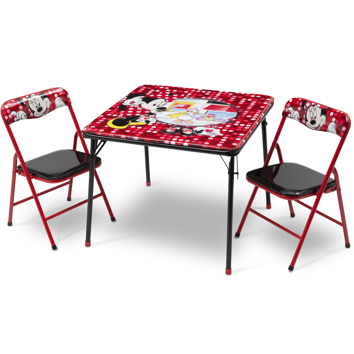 Minnie Mouse Polka Dot Folding Table and Chairs