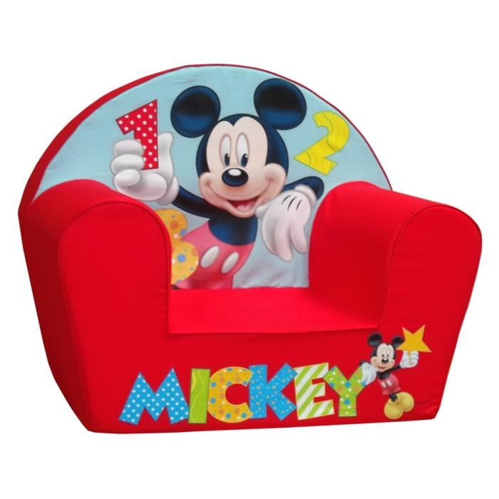 Neuf Fauteuil Club Mousse Mickey Mouse Disney