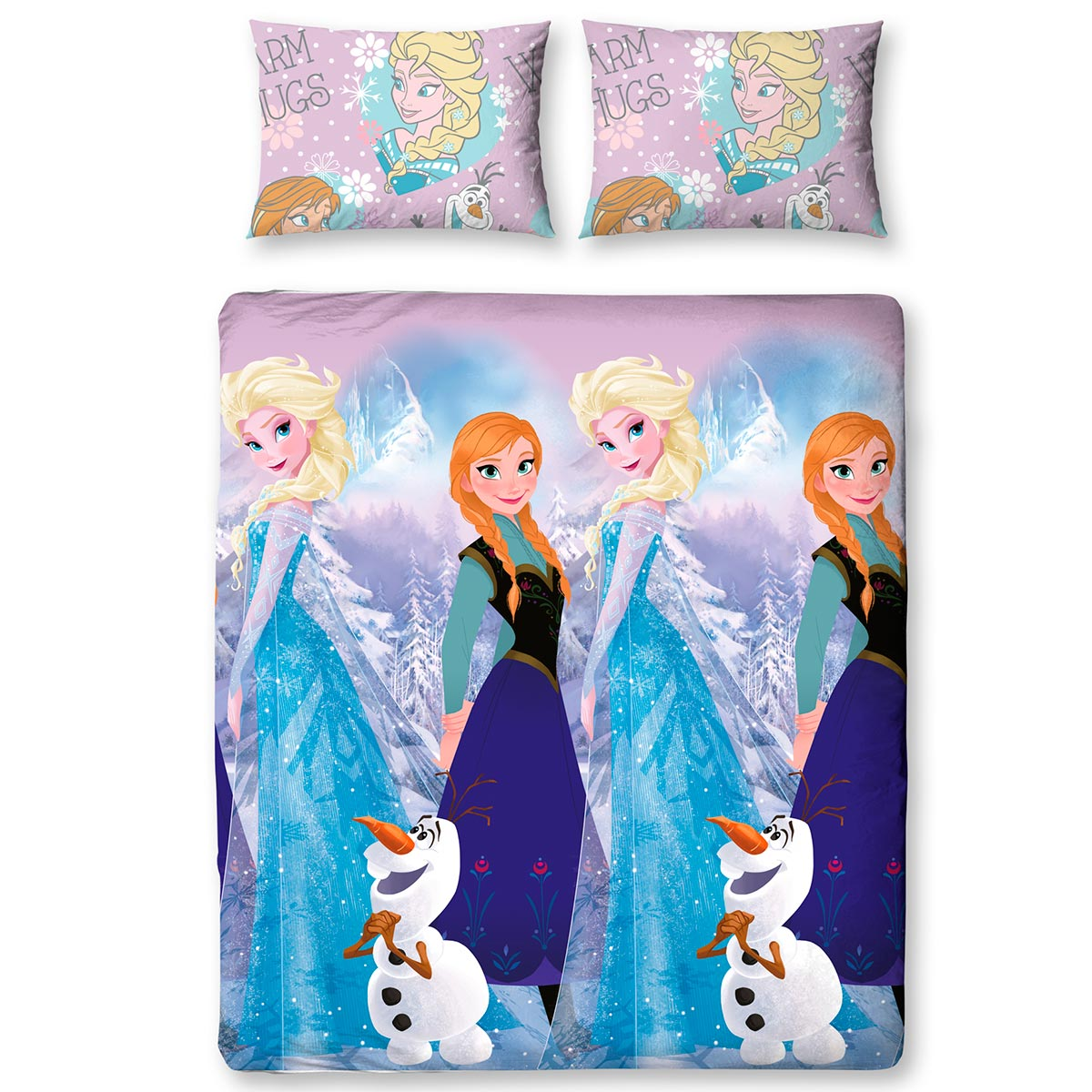 neuf parure de lit double la reine des neiges disney crystal ebay. Black Bedroom Furniture Sets. Home Design Ideas