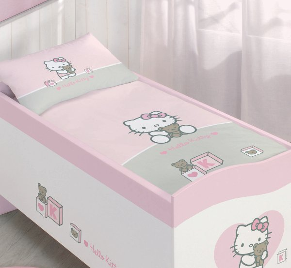 parure de lit hello kitty. Black Bedroom Furniture Sets. Home Design Ideas