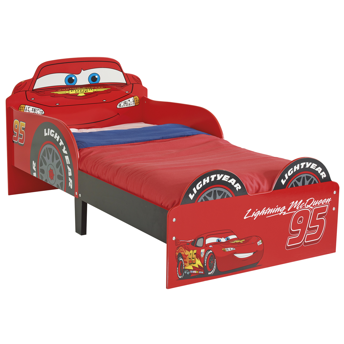 disney cars lightning mcqueen 95 junior bed ebay. Black Bedroom Furniture Sets. Home Design Ideas