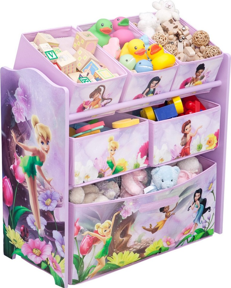 meuble de rangement 6 paniers disney fairies chez bebe gavroche. Black Bedroom Furniture Sets. Home Design Ideas