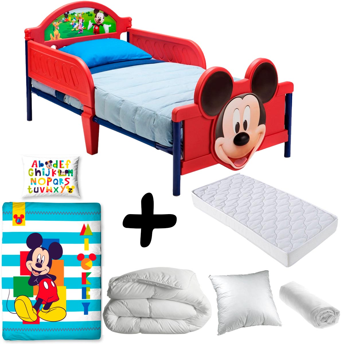pack complet premium lit mickey disney litmatelas parurecouetteoreiller chez bebe gavroche. Black Bedroom Furniture Sets. Home Design Ideas