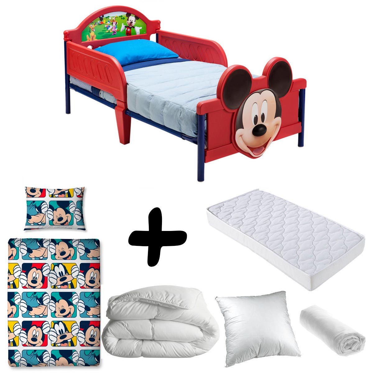parure lit bebe mickey. Black Bedroom Furniture Sets. Home Design Ideas