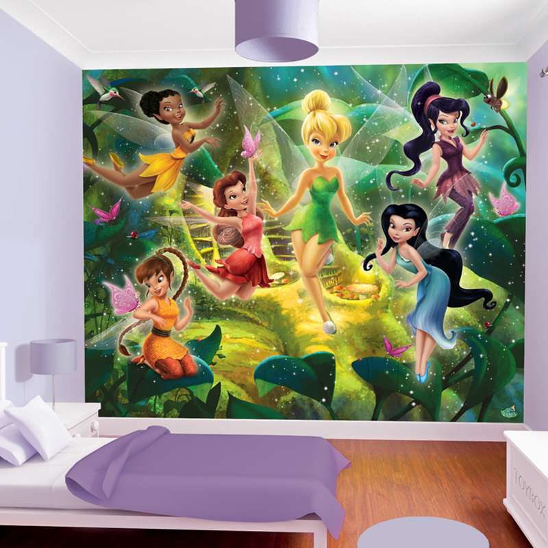 neuf papier peint l 39 arbre poussi re de f es disney fairies walltastic ebay. Black Bedroom Furniture Sets. Home Design Ideas