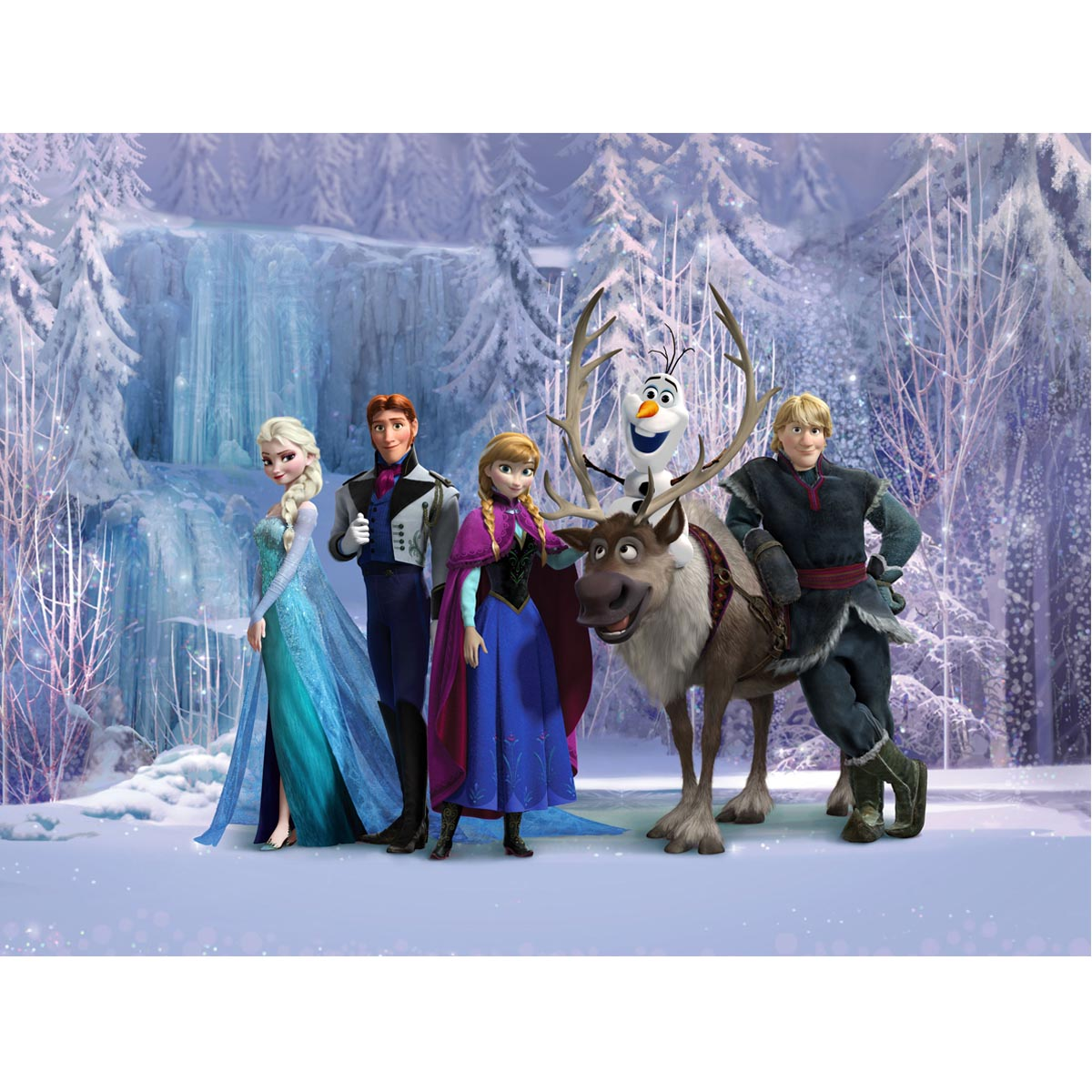 papier peint xxl la reine des neiges disney frozen ebay. Black Bedroom Furniture Sets. Home Design Ideas