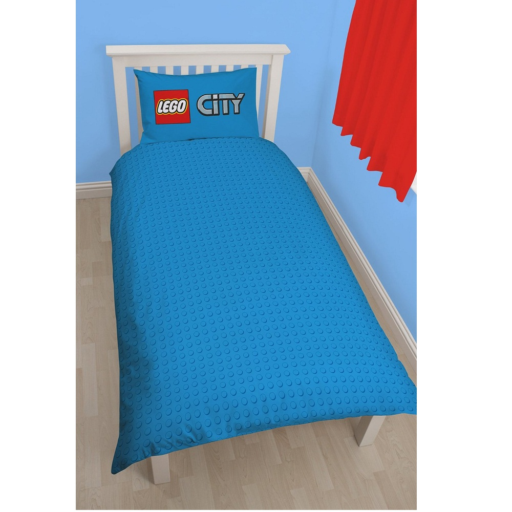 neuf parure de lit lego city pompier police ebay. Black Bedroom Furniture Sets. Home Design Ideas