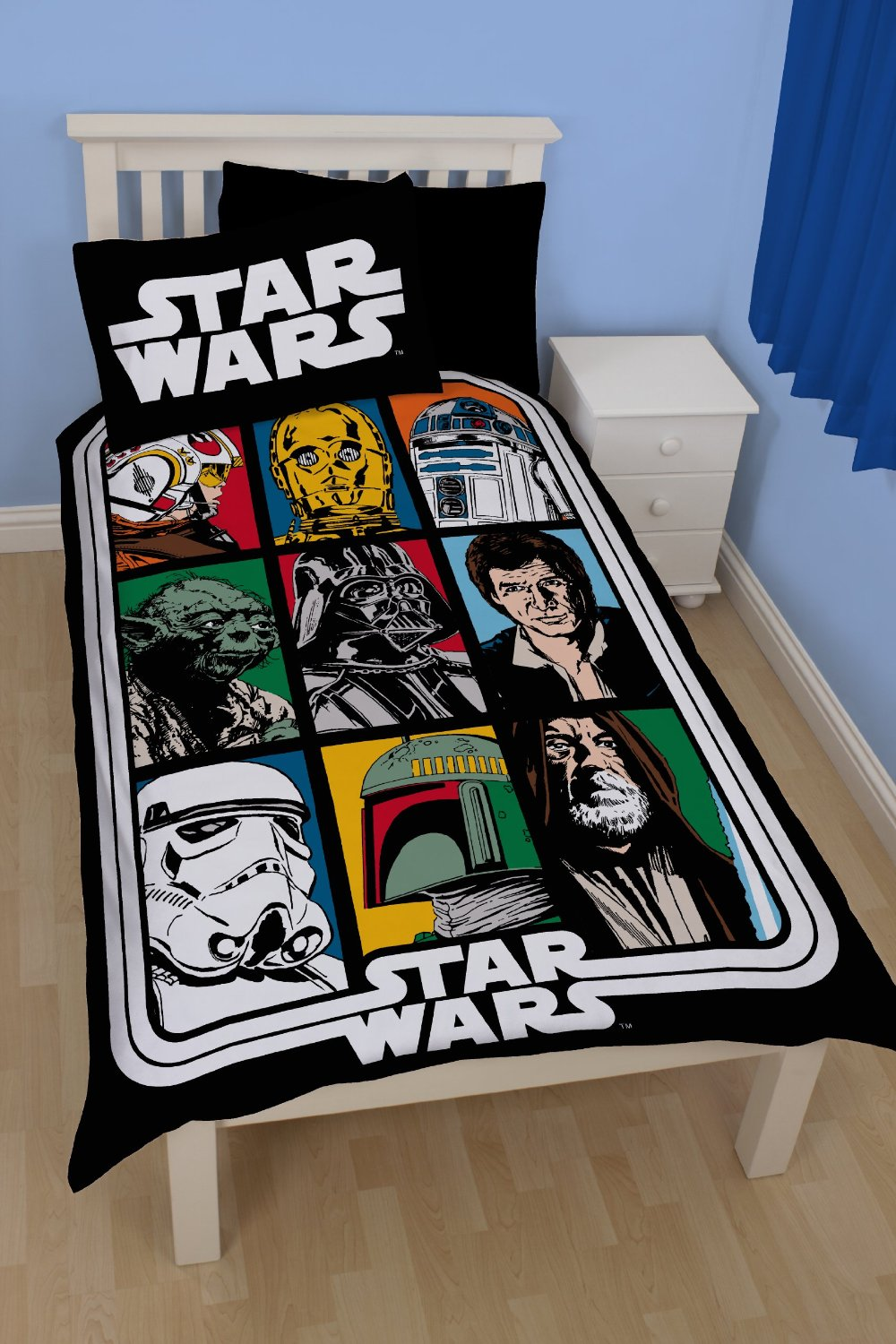 neuf parure de lit force star wars ebay. Black Bedroom Furniture Sets. Home Design Ideas