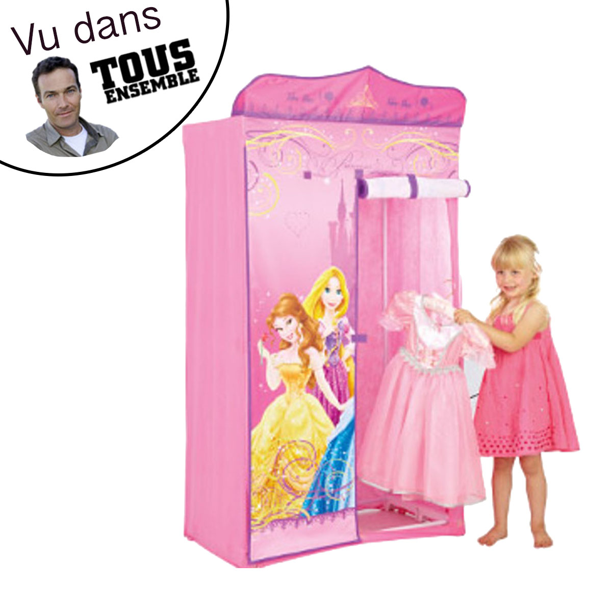 neuf penderie tissu princesse disney ebay. Black Bedroom Furniture Sets. Home Design Ideas