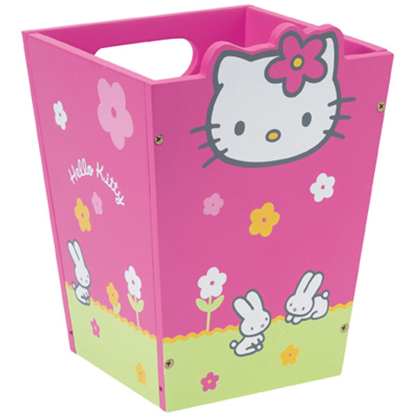 poubelle hello kitty with tour de lit hello kitty pas cher. Black Bedroom Furniture Sets. Home Design Ideas