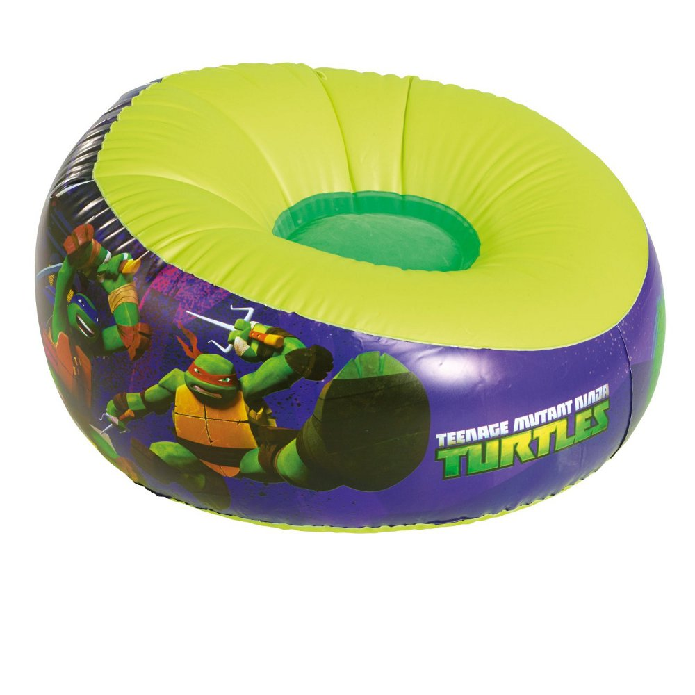 neuf pouf gonflable tortues ninja nickelodeon ebay. Black Bedroom Furniture Sets. Home Design Ideas