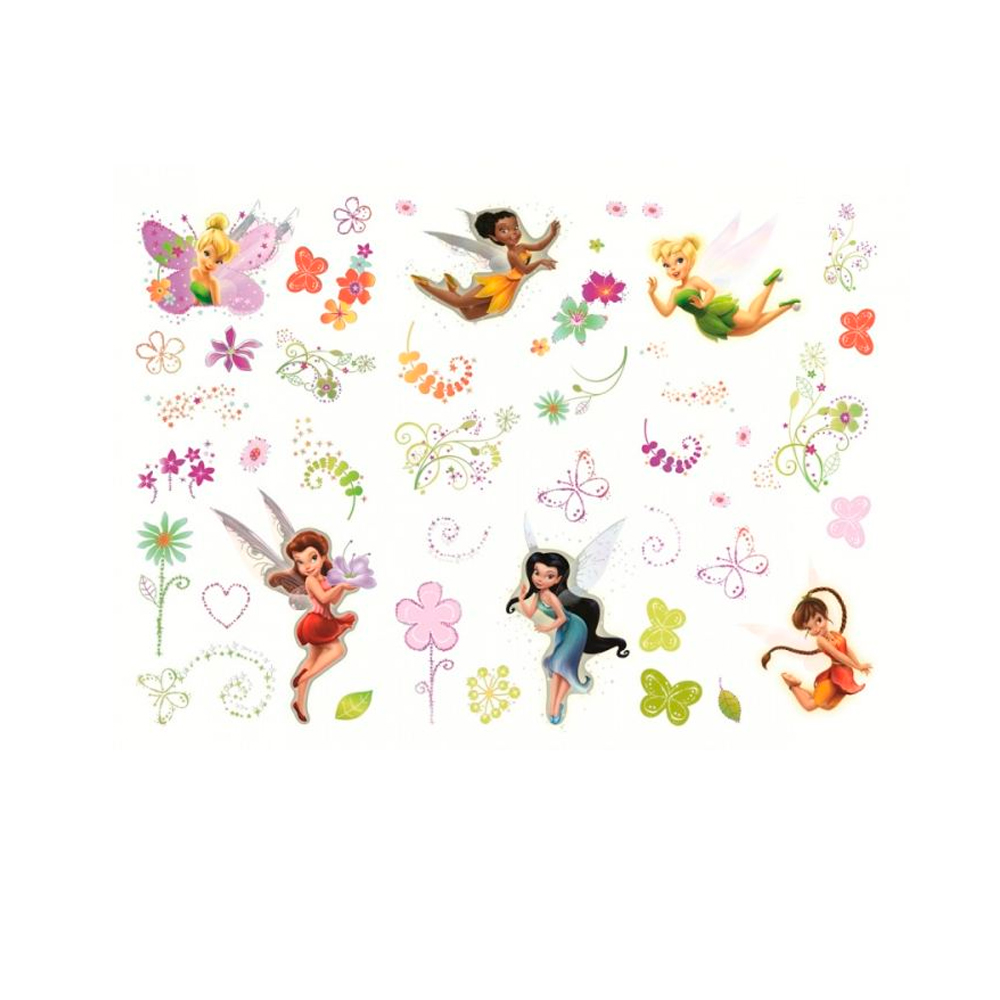 45 stickers f e clochette repositionnable disney fairies. Black Bedroom Furniture Sets. Home Design Ideas