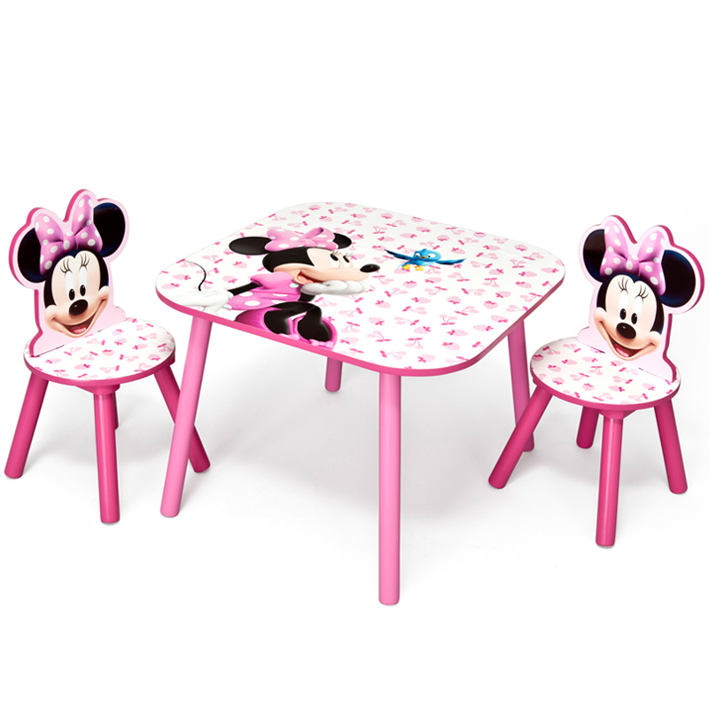 minnie mouse table and chairs ebay. Black Bedroom Furniture Sets. Home Design Ideas