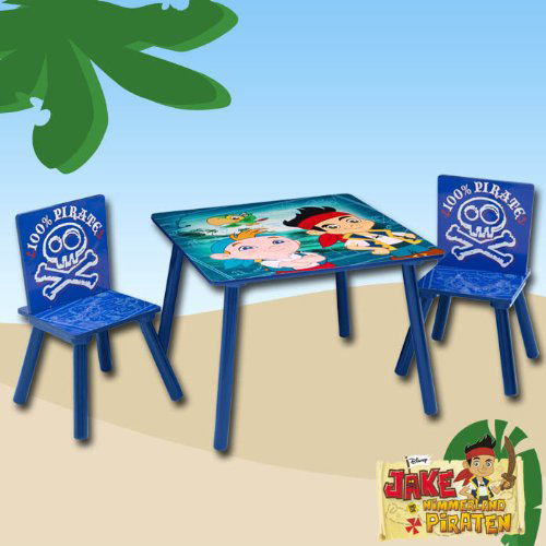 Disney Jake The Neverland Pirates Table And Chairs EBay