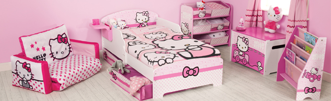 Hello kitty hello kitty bedroom on great kids bedrooms for Chambre hello kitty